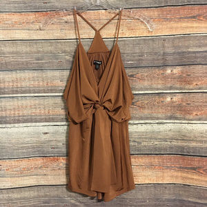 Express brown halter tank top